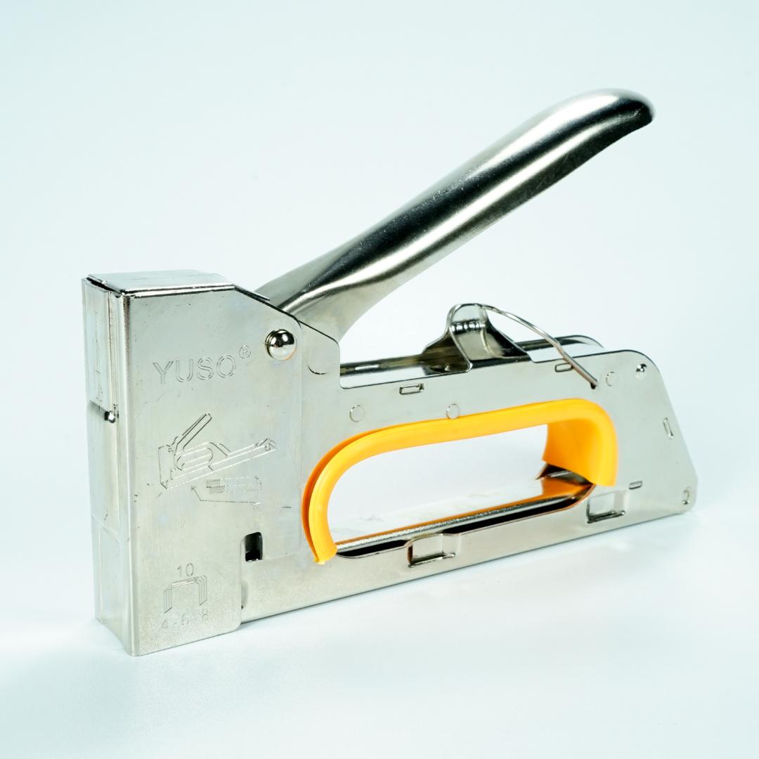 Mesin Stapler Tacker Manual YUSO Y23 untuk Staples 13/6 13/8 Staple Gun Tembak Jok Kulit Motor / Gun