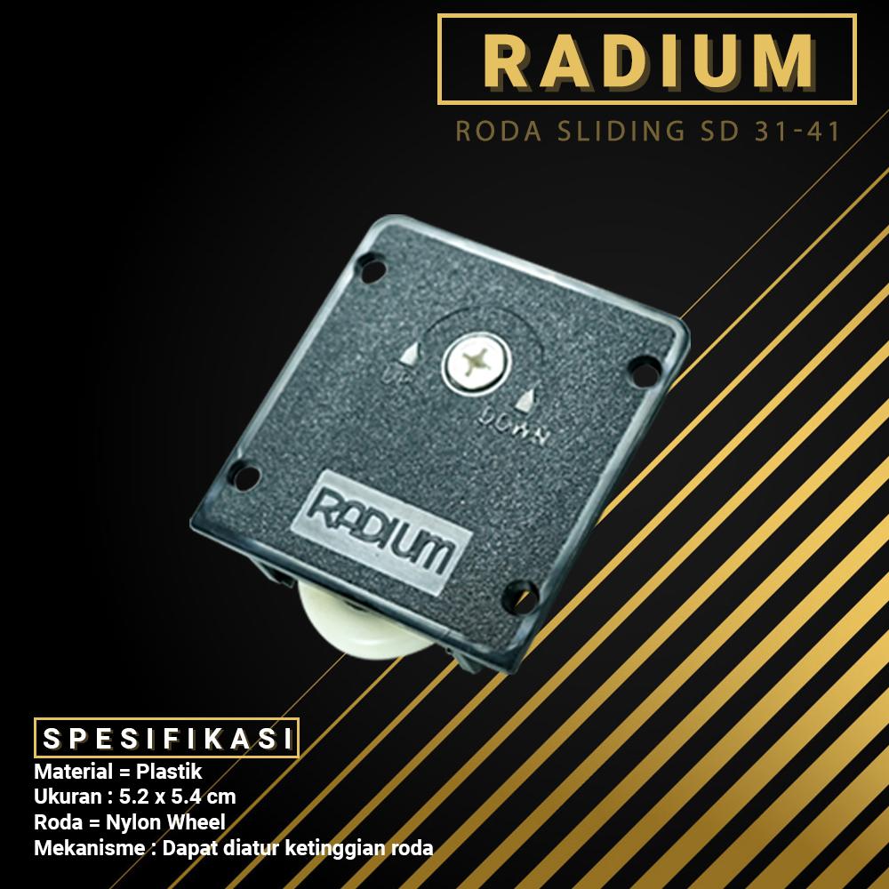 Radium Roda Sliding Pintu Lemari Geser / Slide SD 31-41 Plastic Roller Plastik Wheel Dorong 3141